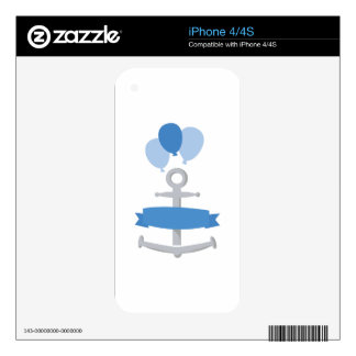 Boy Birthday Banner Decal For iPhone 4S