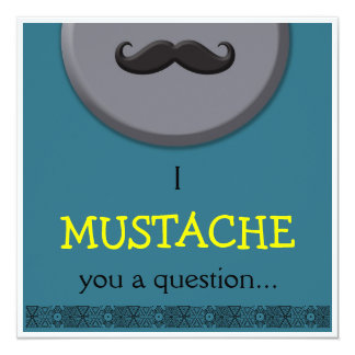 Boy Birthday - I Mustache you Personalized Announcement