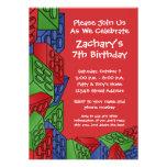 Boy Birthday Party - Building Blocks Invite