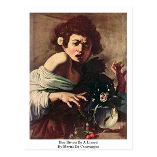 Boy Bitten By A Lizard By Merisi Da Caravaggio Postcard