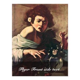 Boy Bitten By A Lizard By Michelangelo Merisi Da Full Color Flyer