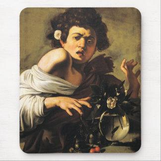 Boy Bitten by a Lizard, Caravaggio Mouse Pad