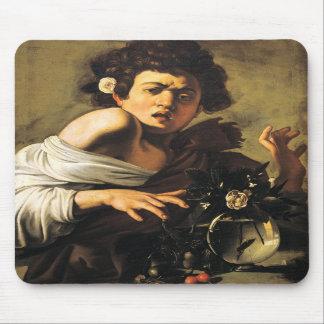 Boy Bitten by a Lizard, Caravaggio Mousepad