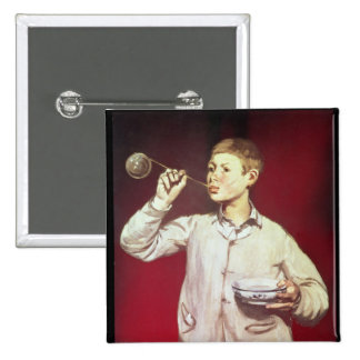 Boy Blowing Bubbles, 1867-69 Pinback Button