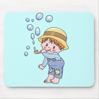 Boy Blowing Bubbles Tshirts and Gifts Mouse Pad