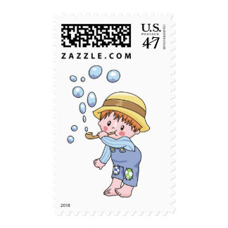 Boy Blowing Bubbles Tshirts and Gifts Postage