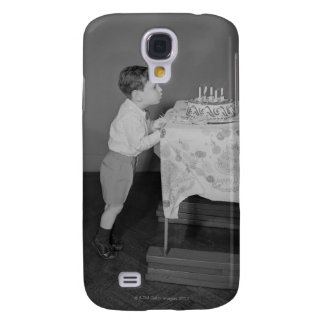 Boy Blowing Out Candles Galaxy S4 Covers