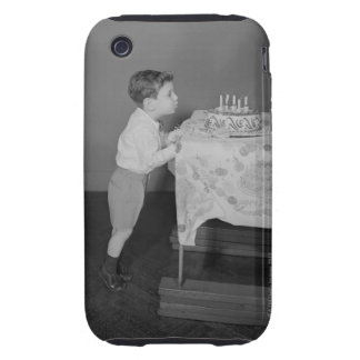 Boy Blowing Out Candles iPhone 3 Tough Case