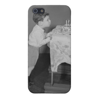 Boy Blowing Out Candles iPhone SE/5/5s Case