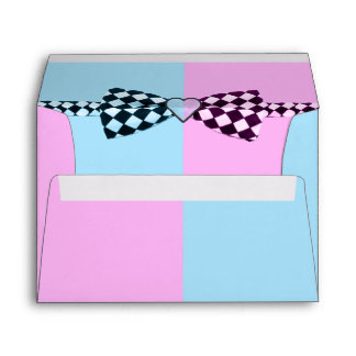 Boy Blue And Or Girl Pink Baby Shower Envelope