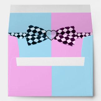 Boy Blue And Or Girl Pink Baby Shower Envelope