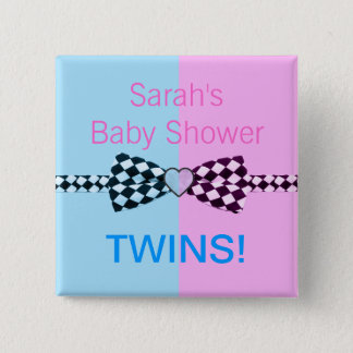 Boy Blue And Or Girl Pink Baby Shower Pinback Button