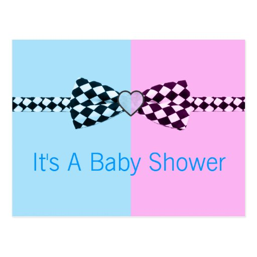 Boy Blue And Or Girl Pink Baby Shower Postcard