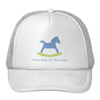 Boy Blue and Yellow Rocking Horse Cap Trucker Hat