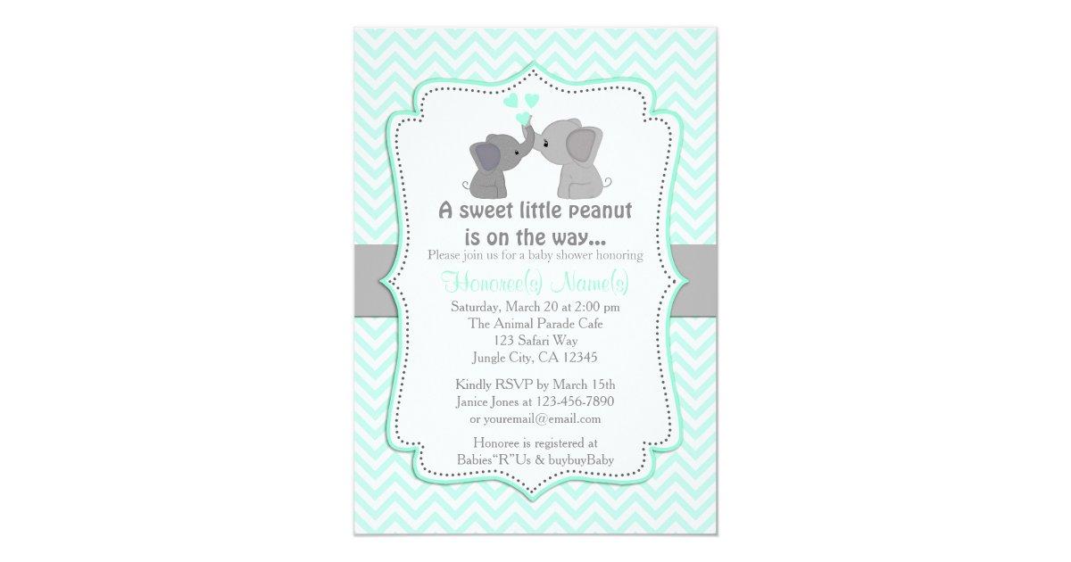 Boy Blue Elephant Baby Shower Invitations Chev 330 | Zazzle.com