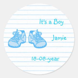 boy-blue-shoes classic round sticker