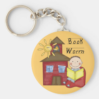Boy Book Worm Tshirts and Gifts Keychains