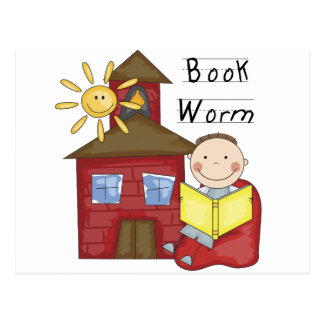 Boy Book Worm Tshirts and Gifts Postcard