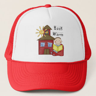 Boy Book Worm Tshirts and Gifts Trucker Hat