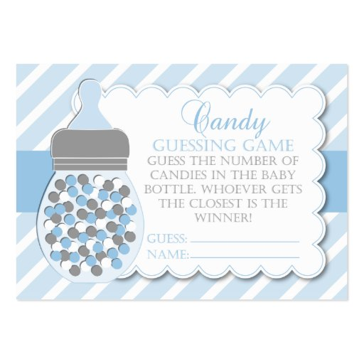 boy bottle baby shower guessing game large business card zazzle