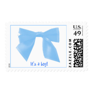 boy-bow-blue, - ribbon postage