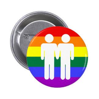 Boy + Boy Rainbow Button