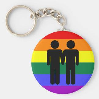 Boy + Boy Rainbow Keychain