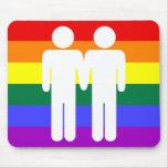 Boy + Boy Rainbow Mousepad