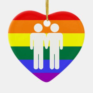 Boy + Boy Rainbow Ornament