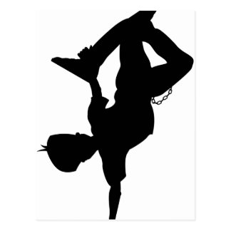 Boy Break Dancer Silhouette Postcard