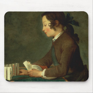 Boy Building a Castle of Cards (oil on canvas) Mouse Pad