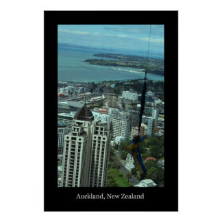 Boy Bungee Jumping from Sky Tower Poster