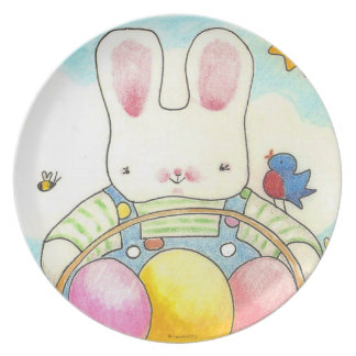 Boy Bunny with basket Plates