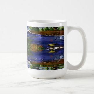Boy Cane Fishing Classic White Coffee Mug