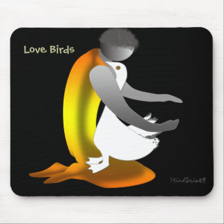 Boy Caring a Duck Mouse Pad