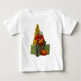 boy carving pumpkin baby T-Shirt