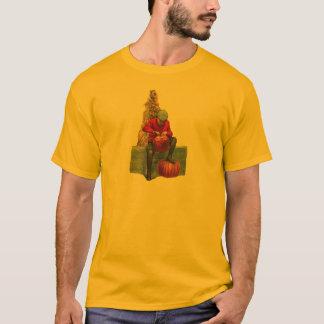 boy carving pumpkin T-Shirt