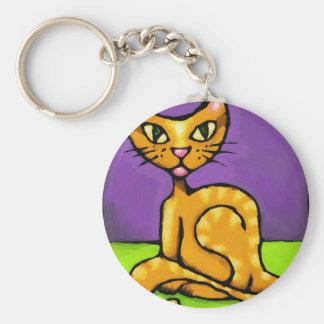 boy cat keychain