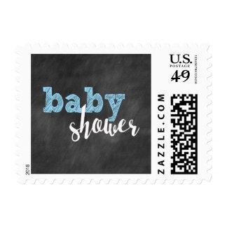 Boy Chalkboard baby shower / blue chalk Postage