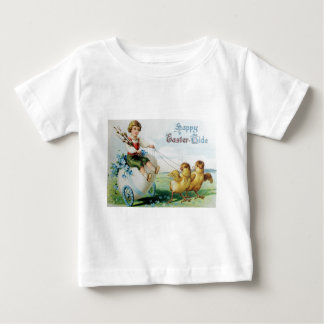 Boy Chariot Forget Me Not Easter Chick Baby T-Shirt