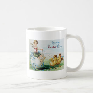Boy Chariot Forget Me Not Easter Chick Coffee Mug