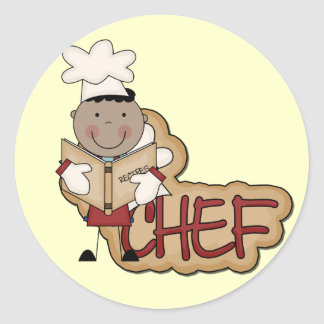 Boy Chef - African American Tshirts and Gifts Classic Round Sticker