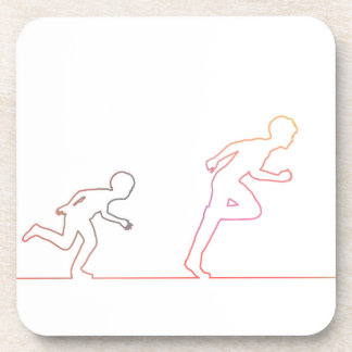 Boy Childhood Ambition and Chasing His Dreams Beverage Coaster