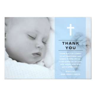 Boy Christening/Baptism Thank You Card