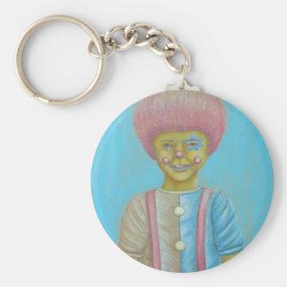 Boy Clown Basic Round Button Keychain
