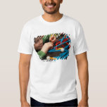 Boy connecting molecules for science project T-Shirt