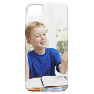 Boy counting on his fingers to complete his iPhone SE/5/5s case