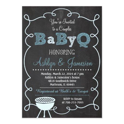 boy couples babyq bbq baby shower invitation zazzle