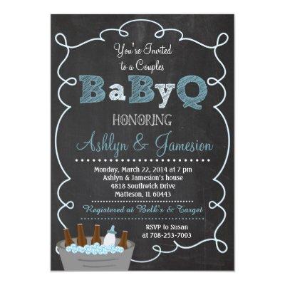 BaByQ Couples Baby Shower Girl Invitation   Zazzle.com