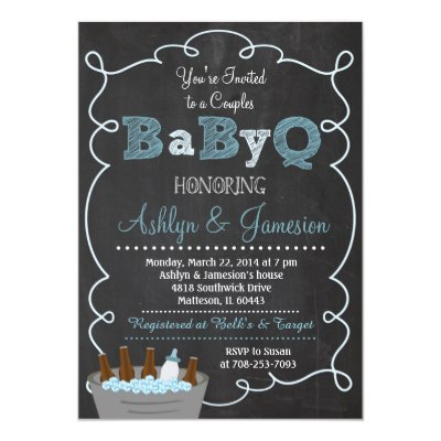 Babyq Couples Baby Shower Girl Invitation Zazzle Com
